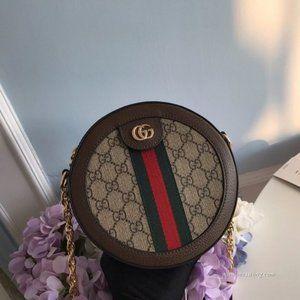 NWTGucci Ophidia mini GG Round Shoulder bag 550618